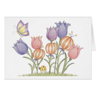 Tulipanes - tarjeta de nota