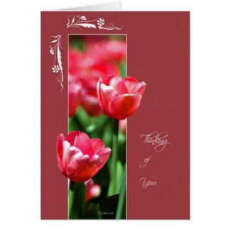 Tulipanes-ThinkingofYou enmarcados de la flor Felicitacion