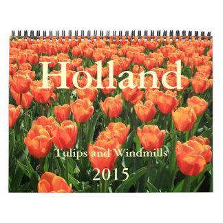 Tulipanes y molinoes de viento 2015 calendario