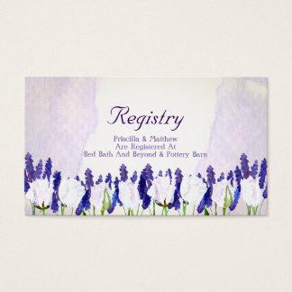 Tulipanes y tarjeta del registro del boda de la tarjetas de visita