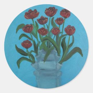 tulipiere classic round sticker