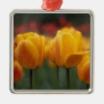 Tulips 2 metal ornament