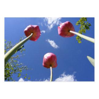 "Tulips 3 ""Worms eye view"" ~ ATC card"