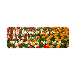 Tulips 5 Label