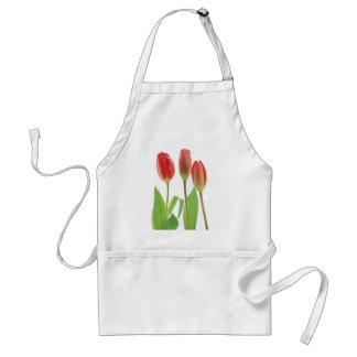 tulips adult apron