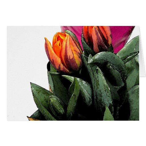 Tulips Again Greeting Card
