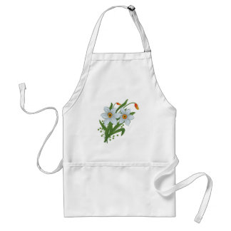 Tulips and Daffodils Flowers Adult Apron