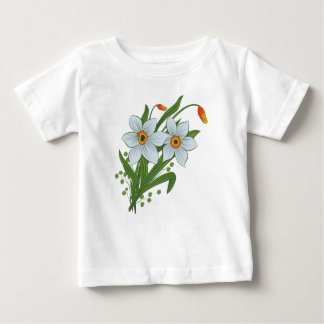 Tulips and Daffodils Flowers Baby T-Shirt
