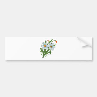 Tulips and Daffodils Flowers Bumper Sticker