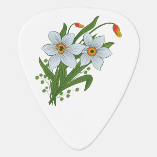 Tulips and Daffodils Flowers Guitar Pick