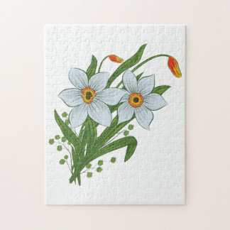 Tulips and Daffodils Flowers Jigsaw Puzzle