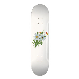 Tulips and Daffodils Flowers Skateboard