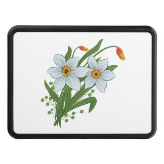 Tulips and Daffodils Flowers Tow Hitch Cover
