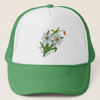 Tulips and Daffodils Flowers Trucker Hat