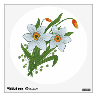 Tulips and Daffodils Flowers Wall Decal