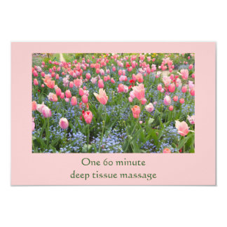 Tulips and Forget-Me-Nots Gift Certificate 3.5x5 Paper Invitation Card