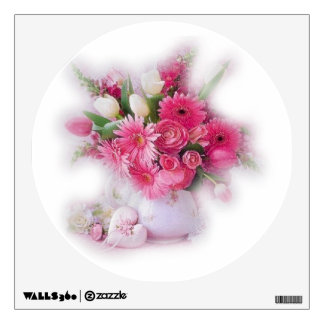 Tulips and Gerber Daisy Flowers Wall Decal