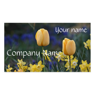 Tulips and jonquils business card