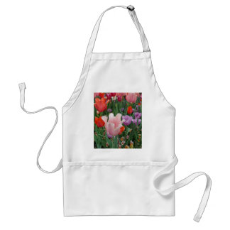 Tulips and Pansies 2 Adult Apron