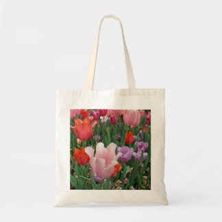 Tulips and Pansies 2 Budget Tote Bag
