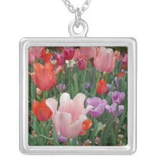 Tulips and Pansies 2 Necklace