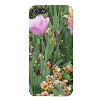 Tulips and Pansies Covers For iPhone 5