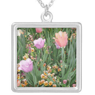 Tulips and Pansies Pendant