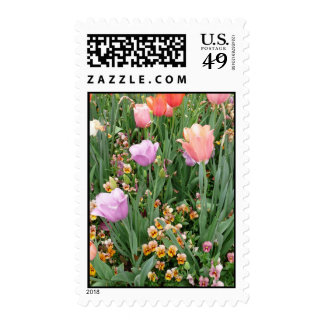 Tulips and Pansies Postage Stamps