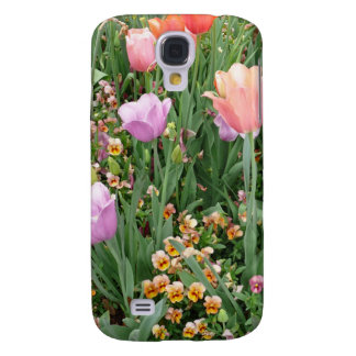 Tulips and Pansies Samsung Galaxy S4 Case