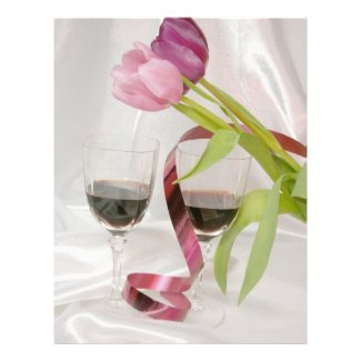 tulips and red wine full color flyer