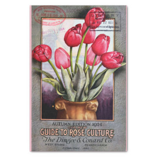 "Tulips and Roses Catalog 10"" X 15"" Tissue Paper"