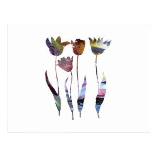 Tulips art postcard