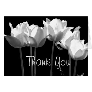 Tulips, B&W Thank You Cards