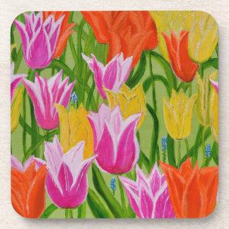 Tulips Beverage Coaster
