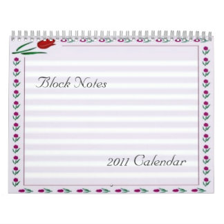 Tulips Block Notes 2011 Calendar