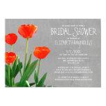 "Tulips Bridal Shower Invitations 5"" X 7"" Invitation Card"