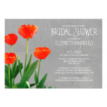 Tulips Bridal Shower Invitations Announcement