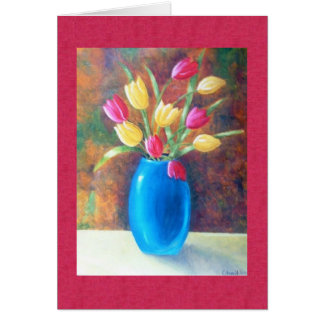 Tulips -Bunch of wishes Card