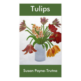 Tulips Business Card:Susan Payne-Trutna Double-Sided Standard Business Cards (Pack Of 100)
