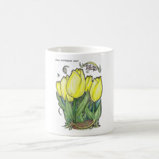 Tulips by ArtPatient Classic White Coffee Mug