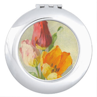 Tulips by Catherine Klein Compact Mirror