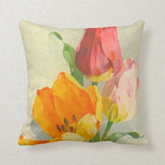 Tulips by Catherine Klein Throw Pillow