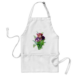 Tulips by Pierre Joseph Redoute Adult Apron