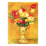 Tulips by Renoir Vintage Art Flower Bridal Shower Invitation