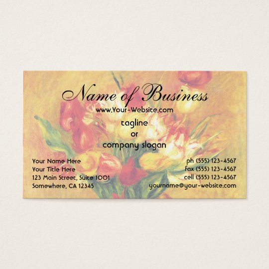 Tulips by Renoir Vintage Flowers Floral Still Life Business Card