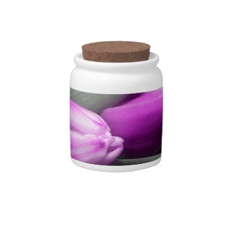 tulips candy dish