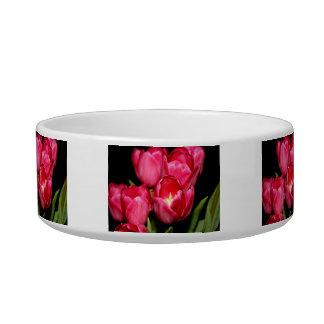 Tulips Cat Water Bowl