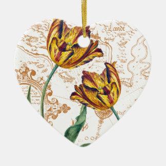 Tulips Chic Ceramic Ornament