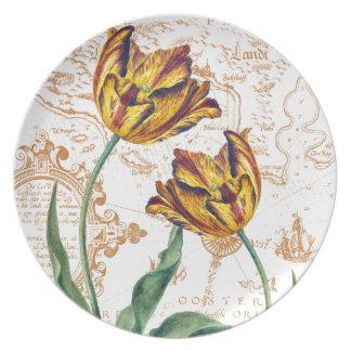 Tulips Chic Melamine Plate