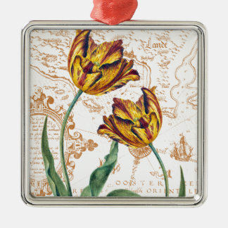 Tulips Chic Metal Ornament